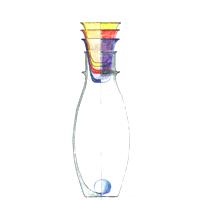 Steklenica s kozarci