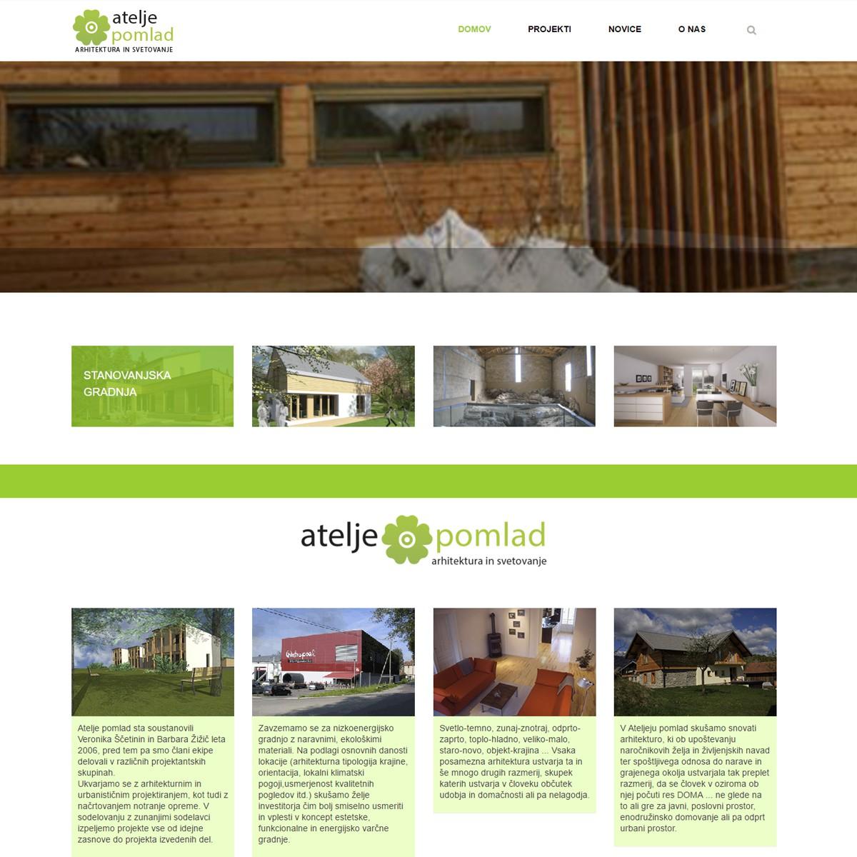 Spletna stran Atelje Pomlad