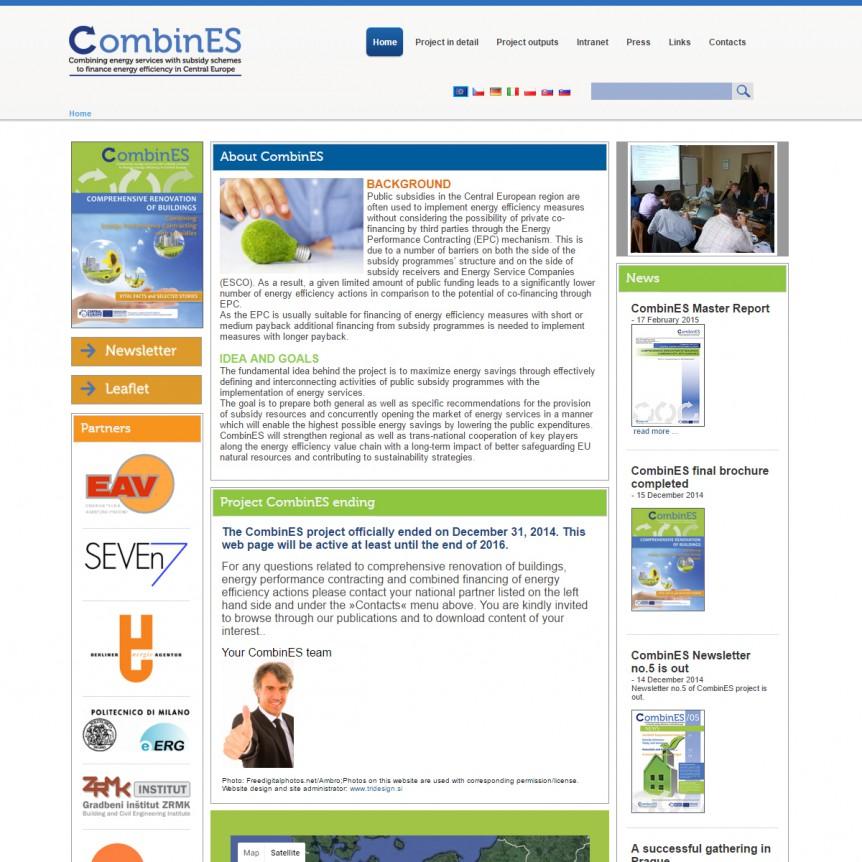 Spletna stran CombinEs