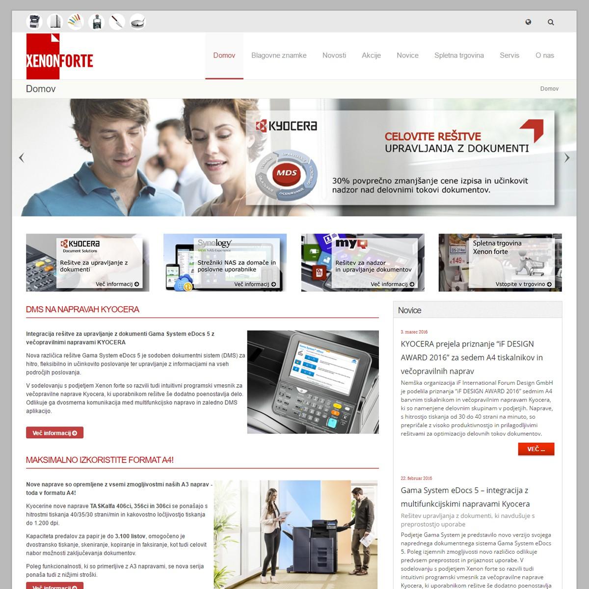 Spletna stran Xenon Forte