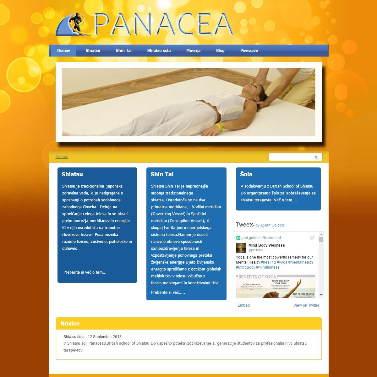 Spletna stran Panacea